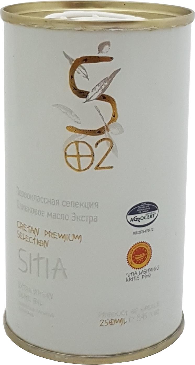 Extra pan. oliv. olej SITIA PDO 250 ml bílý plech