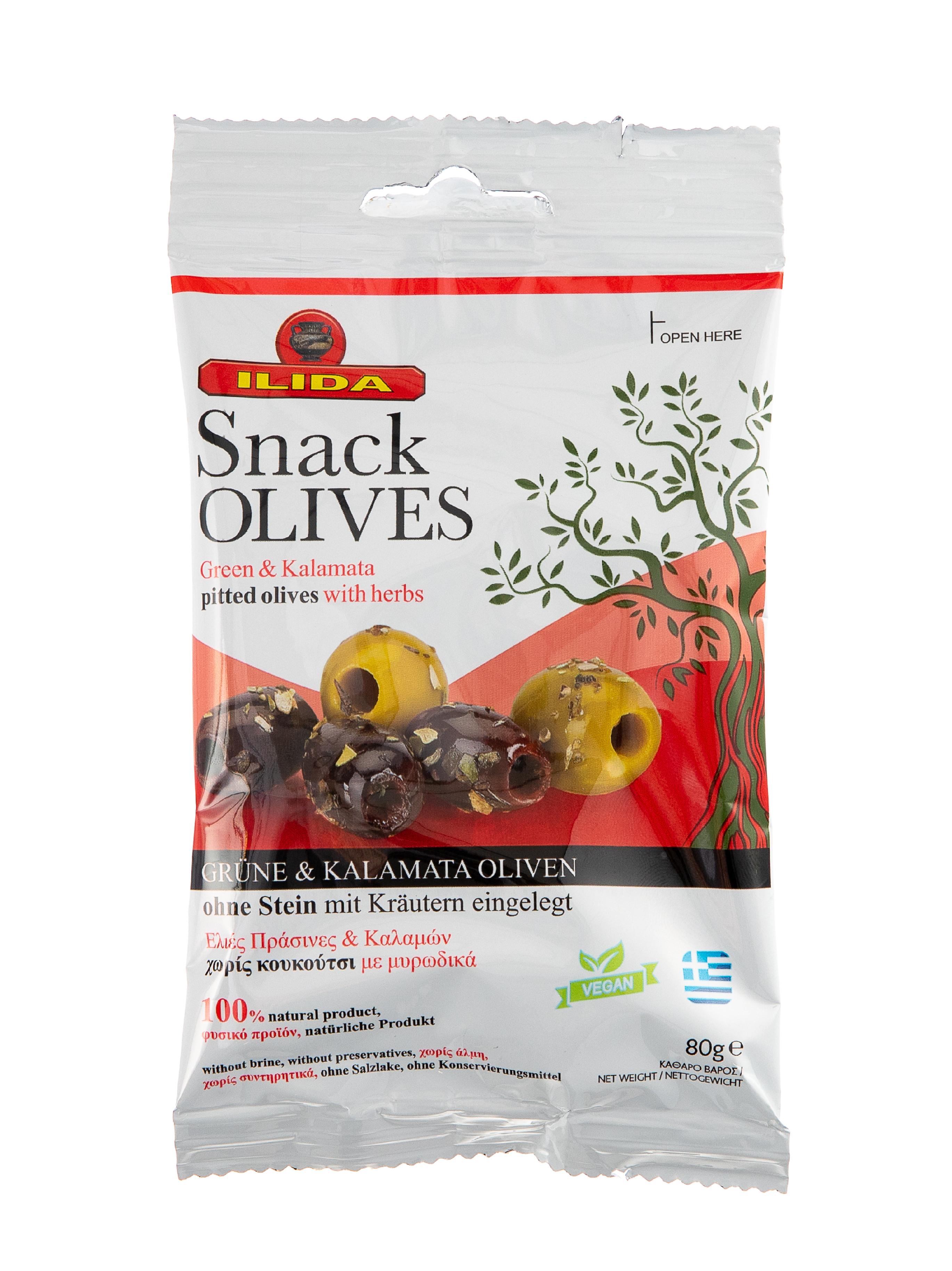 Mix zelených a černých oliv bez pecky 80 g
