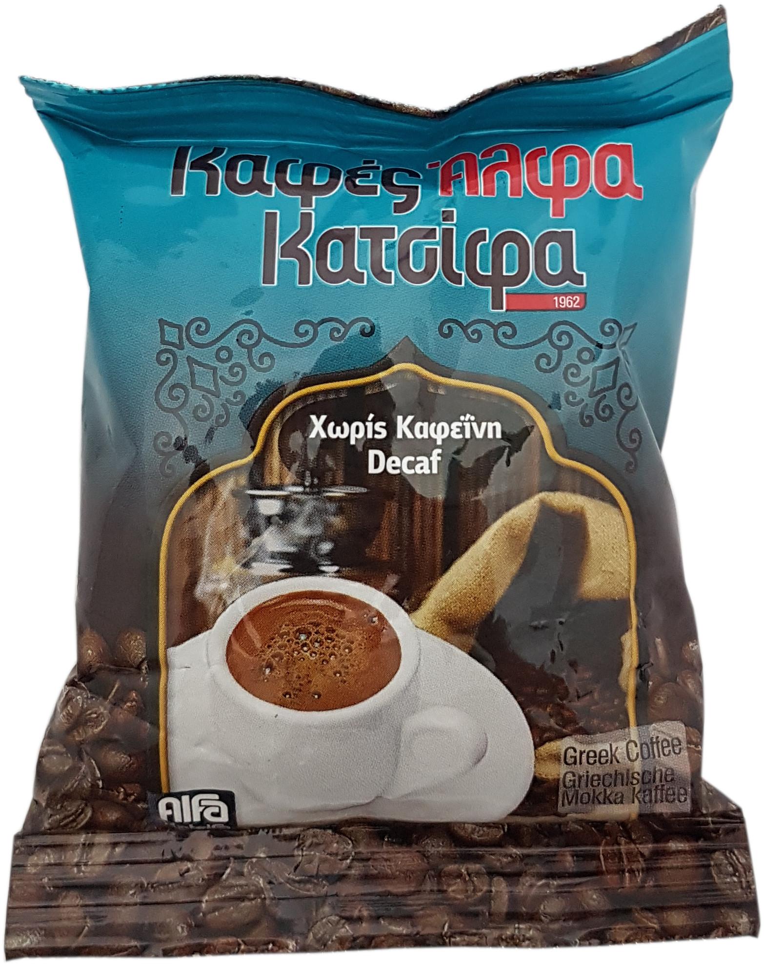 Řecká mletá káva bez kofeinu 96 g